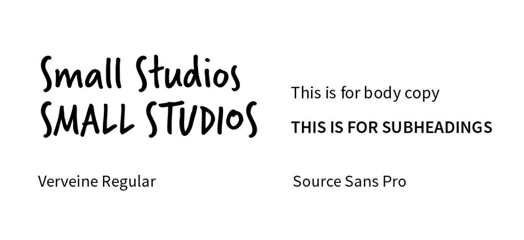 Two small fonts: verveine and Source sans pro